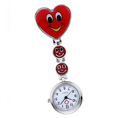 PromiseU - Orologio da tasca per infermieri/e Red Heart