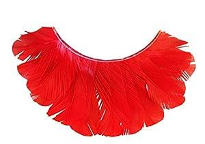 Eulenspiegel 000281 - pestañas artificiales - Plumas rojas - 2 x 1 piezas