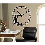 HombreArte Etiqueta De La Pared Reloj Estampado Oficina En Casa Negocio Vinilo Decorativo Mural De Pared Declas