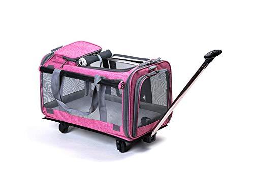 Trolley Zaino Per Viaggio Trasportino Per Animali Outdoor Escursione Viaggio Per Cani E Gatti,Pink