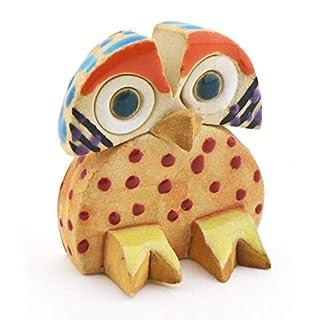 Dekofigur aus Keramik handgefertigt und bemalt mit Foc-Art Dekoration 08040 - Uhu Nr. 2