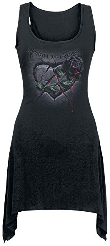 Spiral Resting with Angels Top donna nero S