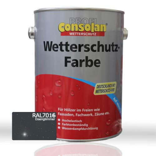 Consolan Wetterschutzfarbe Anthrazitgrau