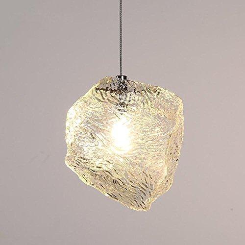 SEESUNG Modernen Minimalistischen Glas Eis Kronleuchter, G4 Kreative Persönlichkeit Wohnzimmer Beleuchtung, Single-Headed Schlafzimmer Bar Esszimmer Kronleuchter Lampen, Durchmesser 5.91In Hoch 5.91In Eis Mais