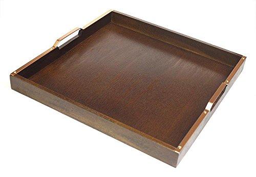 Mountain Woods Holz Serviertablett mit Kupfer-Finish Griffe, 50,8cm L -