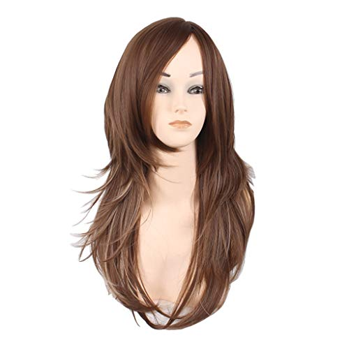 INTER FAST Damenmode, Europa und Amerika, Lockiges Haar, Perücke Perücke (Color : Brown) -