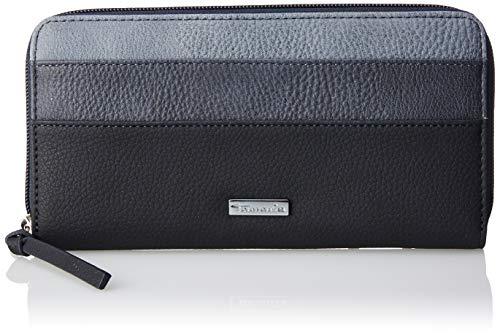 Tamaris Damen Khema Big Zip Around Wallet Geldbörse, Blau (Navy Comb.), 2x10x19.5 cm