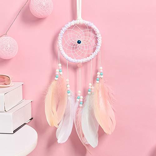 SUDADY-Home Atrapasueños con pequeñas Luces nocturnas campanillas Rosa Decoración romántica diseño de Hadas para Decorar el Cuarto de Chica Estilo Lindo