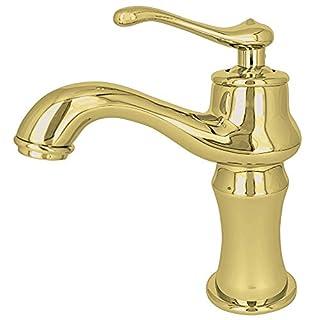 Retro Bad Waschtisch Waschbecken Einhebel Armatur Wasserhahn Gold Sanlingo