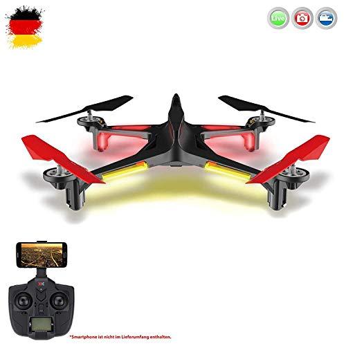 Ferngesteuerte Drone für Anfänger Wi-Fi Fpv Kamera Training Quadcopter mit Headless-Modus One Key Return Einfache Bedienung RTF Komplett-Set