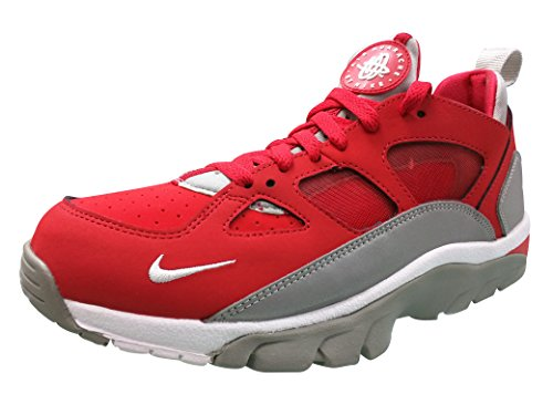 Nike Air Trainer Huarache Low, Chaussures de Running Entrainement Homme, Noir (Schwarz), [Top] Rouge / blanc / argenté (rouge université / blanc - argenté métallique)