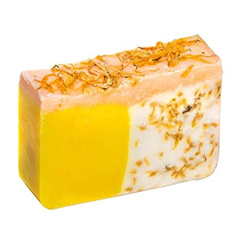 Orange Soap Bar With Calendula Oil - Organic With Essential Oils. Moisturizing Body Soap For Skin And Face. With Shea Butter, Coconut Oil, Glycerin 4 OZ Soap