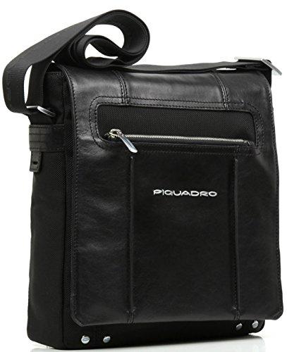 Tracolla verticale Piquadro Link nero porta iPad/iPad®Air con patta CA1593LK/N