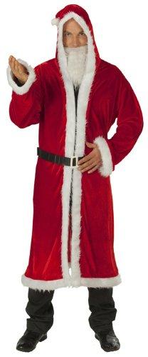 Weihnachtsmann Mantel Nikolaus Santakostüm Weihnachtsmannkostüm Nikolauskostüm Kostüm Nicolaus Robe rot Rauschebart Samt weich Gr. (Rubies Weihnachtsmann Kostüm)