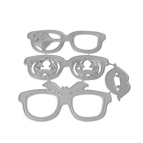 Hule, stencil in metallo per occhiali da vista di Halloween, fai da te, album di ritagli, timbri
