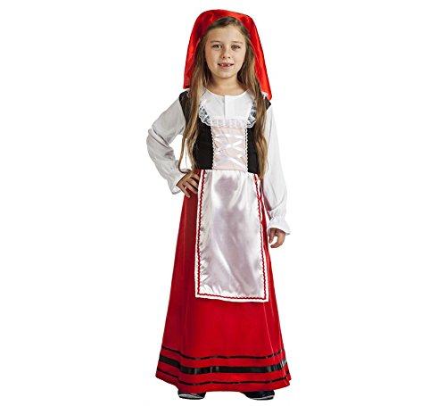 Imagen de disfraz de pastora campesina para niña