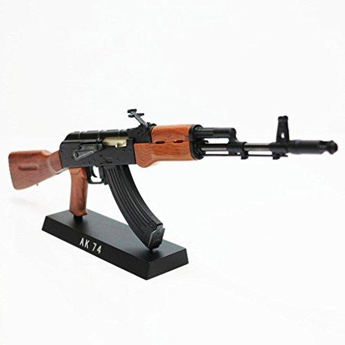 Army Force nicht-Funktions-Spielzeug-Abbildung Dummy-Modell-Installationssatz 1: 6 AK 47 Schwarz / Braun -
