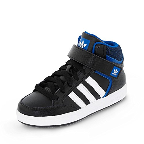 adidas Jungen Varial Mid J Skaterschuhe Black (Negbas / Ftwbla / Reauni)
