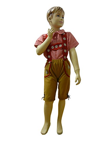 (Oktoberfest-Kostüm Bayer, F120 Gr. 110-116, Kinder-Kostüm, traditionelles Bayern-Kostüm für Kinder, Fasching Karneval, Klein-Kind Karnevalskostüme, Kinder-Faschingskostüme, Weihnachts-Geschenk)