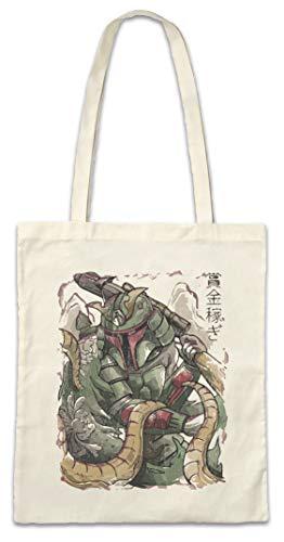 Urban Backwoods Samurai Fett Hipster Bag Beutel Stofftasche Einkaufstasche
