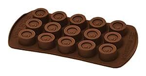 Happyflex hf05656forme chocolats, silicone, Brown