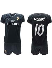 Conjunto 2ª Equipación Fútbol LUKA MODRIC 10 Real Madrid C.F. NEGRA Away  Temporada 2018 - 2019 Replica OFICIAL… b5ebe1d5e7382