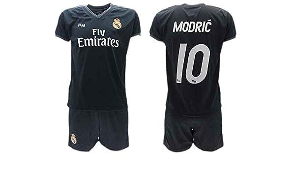 pretty nice 282fe bf264 AWAY KIT Complete Soccer Football LUKA MODRIC 10 Real Madrid ...