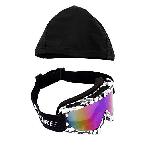 Baoblaze Fahrradhelm-Kappe mit Motorrad-Schutzbrillen UV400 Schutz Verspiegelt
