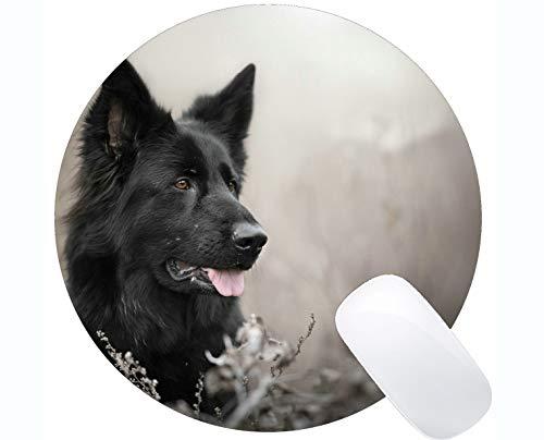 Runde Gaming-Mausunterlage aus Naturkautschuk, bedruckt mit Labrador-Welpenhunden mit Naht