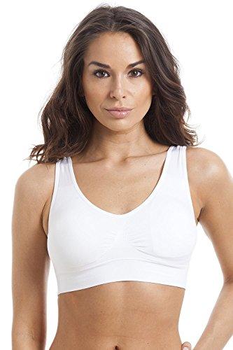 Camille Shapewear - Figurformender BH - Nahtlos - Weiß Weiß