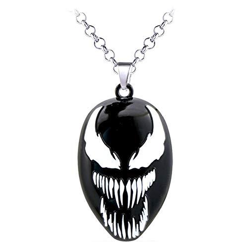 Johannas Halskette Venom Mask Gesicht Figur Metall Beschützer ()