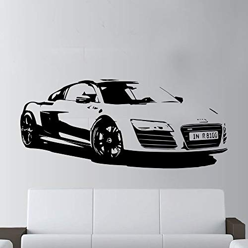 57x130cm Fashion Large Car Audi R8 Coupe Sports Wall Art Decal Home Decor Racing Car Wall paper Art Vinyl Art Mural - R8 Coupés