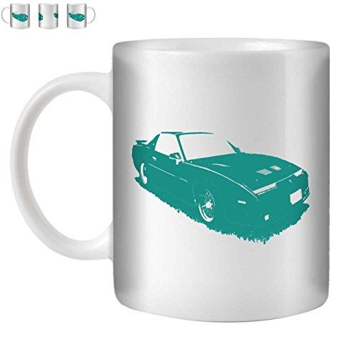 Stuff4 Tee/Kaffee Becher 350ml/Türkis/1987 Firebird Trans Am GTA/Weißkeramik/ST10