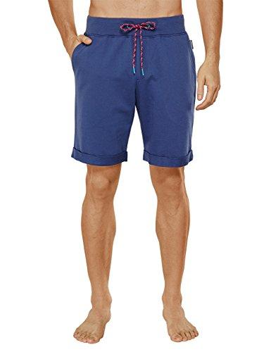 Uncover by Schiesser Herren Schlafanzughose Uncover sweat bermuda, Gr. Medium, Blau (dunkelblau 803)