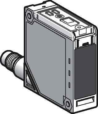 Telemecanique Capteurs xuk8aksnm12XUK photo électrique Capteur Laser, en plastique, design compact 50x 50, fond suppression, 1m Distance de détection, M12connecteur, 9vdc-33VDC