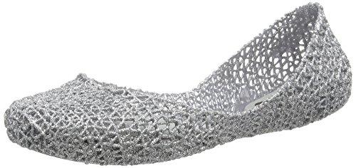Melissa Damen Campana Papel VII Geschlossene Ballerinas Silber (Silver Glitter 50711) 39 EU (Mädchen Schuhe Melissa)
