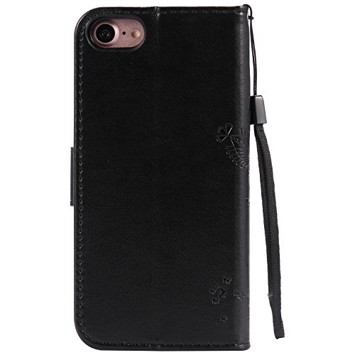 iPhone 8 Plus / 7 Plus 5.5 Pouce Coque,iPhone 8 Plus Coque Portefeuille PU Cuir Etui,iPhone 7 Plus Coque Silicone,iPhone 8 / 7 Plus Leather Case Wallet Flip Protective Cover Protector,iPhone 7 Plus Co Bling Wishing Tree 9