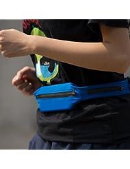 Multifunción Ciclismo Correr Deportes paquete de la cintura bolsa de teléfono a prueba de agua invisible bolsa de Ejecución