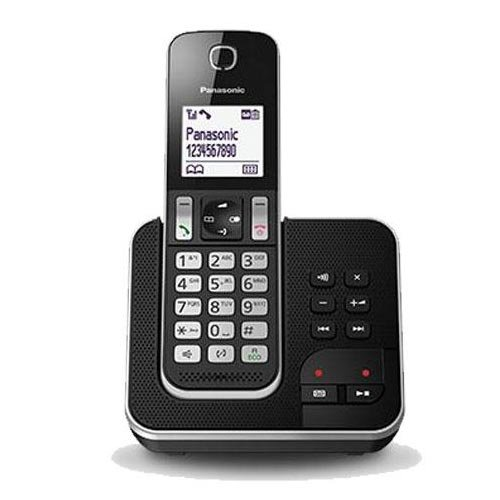 Panasonic KX-TGD320SPB - Teléfono fijo digital (hasta 16 horas, contestador automático), negro