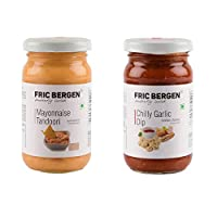 Fric Bergen Mayonnaise Tandoori Sauces and Chilly Garlic Dip/Sauce-Bottle Combo