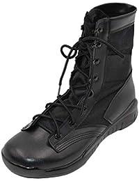uirend Chaussures Travail Militaires Homme - Homme Special Ops Noir Bottes  Armée léger Fermeture Éclair Latérale 85957588da53
