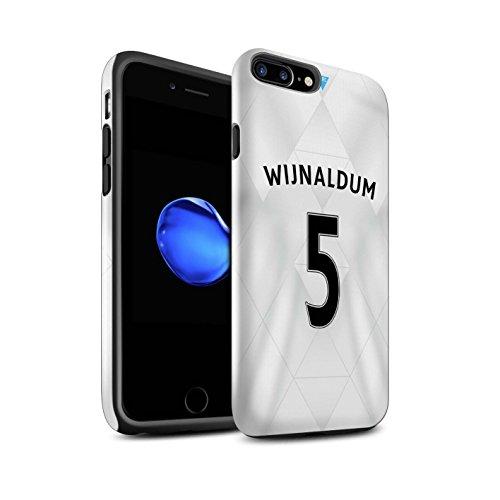 Offiziell Newcastle United FC Hülle / Glanz Harten Stoßfest Case für Apple iPhone 7 Plus / Rivière Muster / NUFC Trikot Away 15/16 Kollektion Wijnaldum