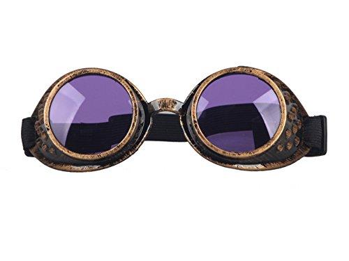 AFUT Victorian Steampunk Eyewear Goggles Welding Goth Cosplay Vintage Glasses steampunk buy now online