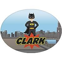 Personalised Superheroes Door Plaque gift idea kids birthday Christmas Bat Boy Bat Girl American Captain Superkid Flasher Green Light Deadguy son daughter Room