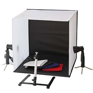 Portable 50 x 50 x 50 cm LED Lamp Bulb Continuous Lighting Low Heat Camera Photo Studio Box Light Cube Tent Kit with Tripod Four Backdrop