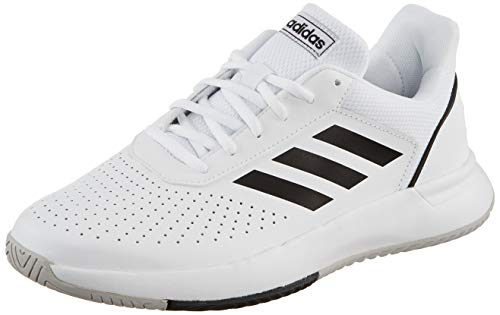 adidas Herren Courtsmash Tennisschuhe, Weiß (Ftwbla/Negbás/Gridos 000), 42 2/3 - Tennis Adidas Herren Schuhe