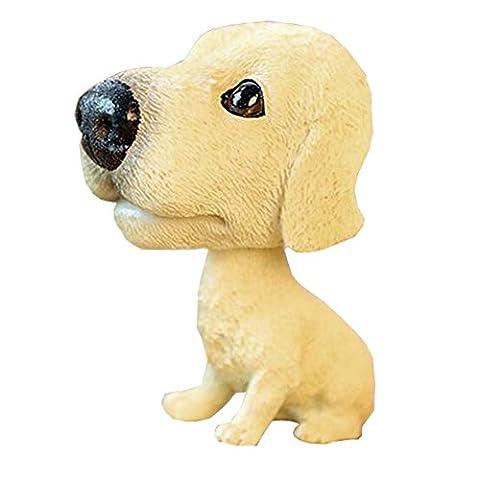 [Golden Labrador] Bobbleheads Car Ornaments Resin Car Decoration,4.7x2.3''