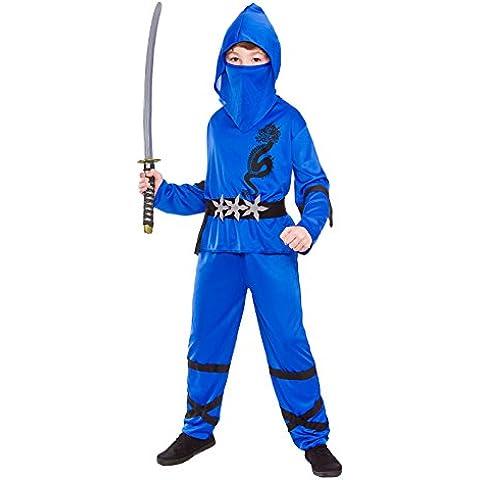 Ninja Nino Disfraz Talla Pequeña 3-4 años (110-122cm)