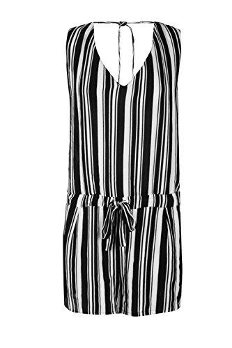 Noir Femmes Lily Drape Emballage Avant Playsuit Noir