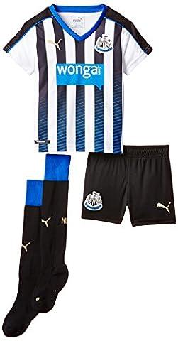 Puma Boy's Replica Football Jersey Newcastle Home Kit with Socks Black Black, White, Puma Royal